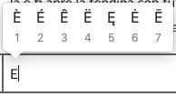lettere maiuscole accentate su mac