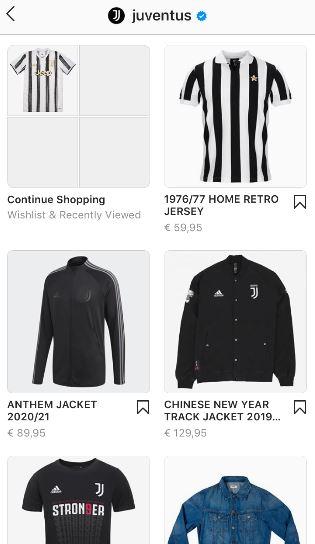instagram shop juventus products